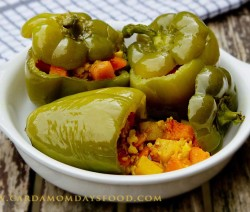indian stuffed green peppers