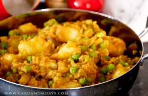 potato pea and tomato curry
