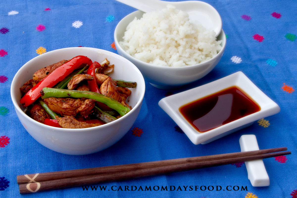 Five spice chicken stir fry cardamom days food for Fish sauce stir fry
