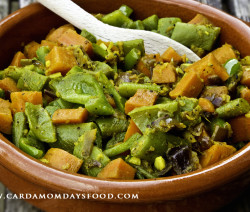 spiced green bean and carrots