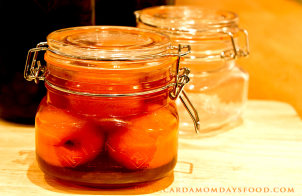 apricots in brandy