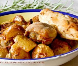 Italian Style Roast Chicken with Potatoes and Rosemary