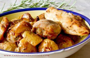 Italian Style Roast Chicken with Potatoes and Rosemary