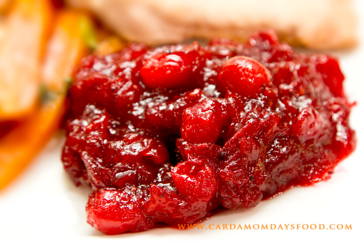 Cranberry Sauce - Cardamom Days Food