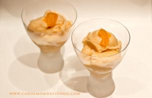 persimmon sorbet