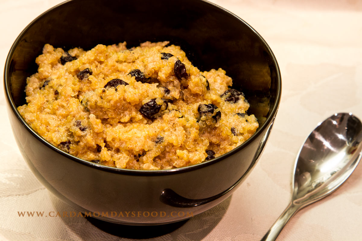 Quinoa and currant porridge cardamom days food for Cuisine quinoa
