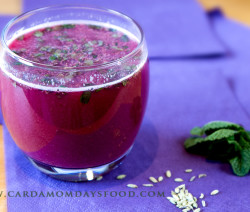 Pomegranate Juice with Fennel and Mint