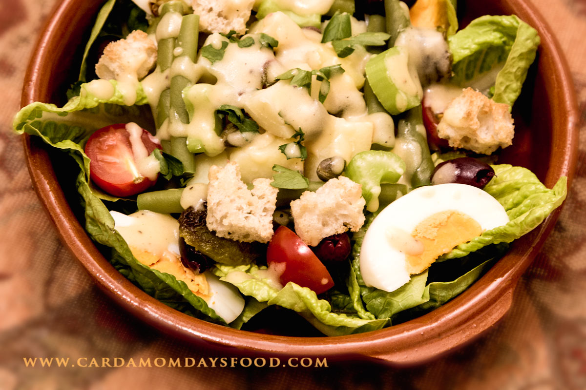Warm Vegetarian Provencal Salad - Cardamom Days Food