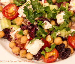 warm revithia salad