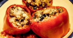 italian stuffed red pepper