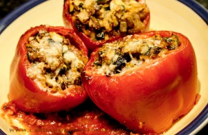 italian stuffed red pepper