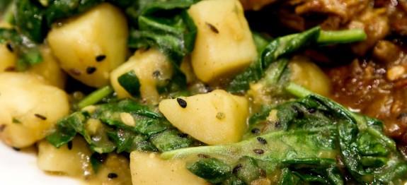Spinach and Potatoes - Sag Aloo