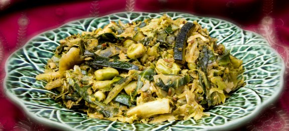 Punjabi Cabbage with Courgettes & Broad Beans