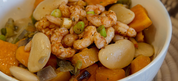 Cajun Shrimp with Lima Beans