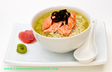 green tea and rice soup