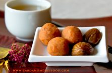 sweet potato and chestnut balls