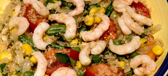 quinoa and prawn salad