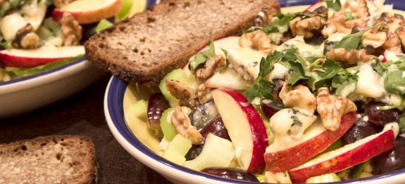 warm waldorf salad