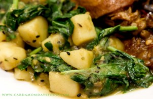 Spinach and Potatoes - Sag Aloo